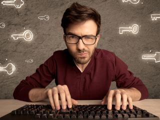hacker hipster sleutels computer
